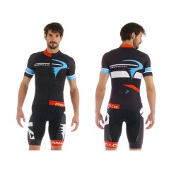 Pinarello CORSA shirt GARA black/sky blue/white
