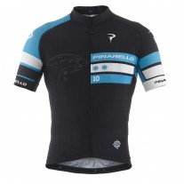Pinarello shirt SCATTO tre bande sky blue/black