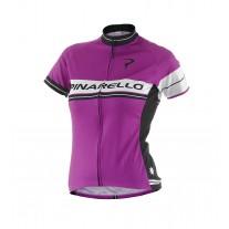 Pinarello Vero Retro stripe shirt purple women
