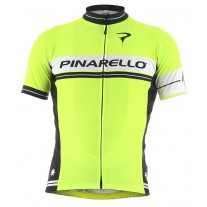 Pinarello Retro shirt Stripe Fluo Yellow