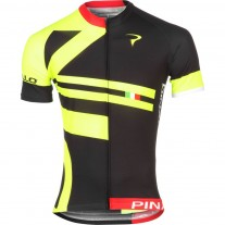 Pinarello Classics shirt Bandiera black/yellow/fluo