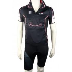 Set Pinarello maglia nera Giro short en broek
