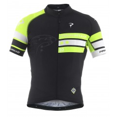 Pinarello fietsshirt scatto tre bande fluo yellow/black